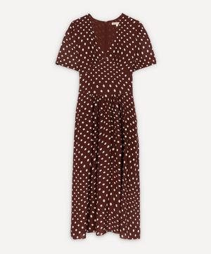 Polka-Dot Tie-Waist Dress