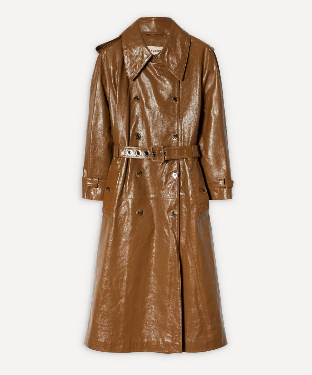 ALEXACHUNG - Leather Trench Coat