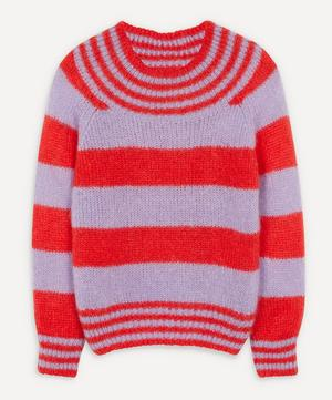 Wide Trim Crew-Neck Jumper