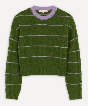 Cropped Cable-Knit Jumper