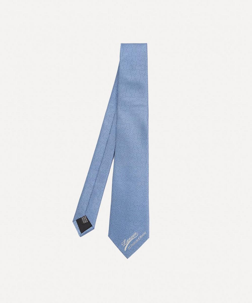 Lanvin - Textured Logo Detail Silk Tie