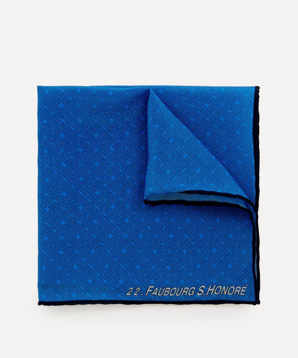 Lanvin - Logo Jacquard Silk Pocket Square