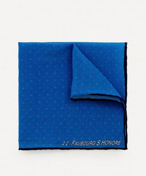 Logo Jacquard Silk Pocket Square