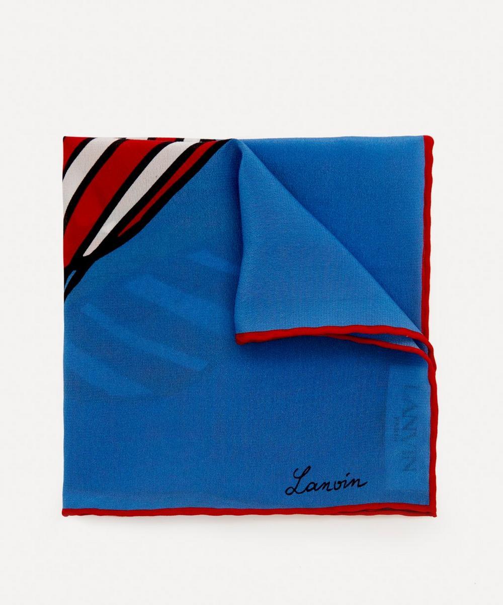 Lanvin - Hot Air Balloon Silk Pocket Square