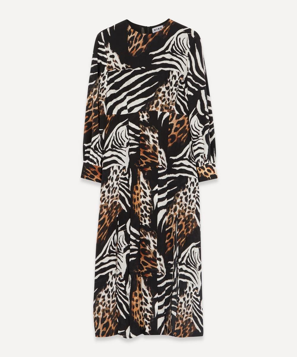 RIXO - Emma Animal-Print Midi-Dress