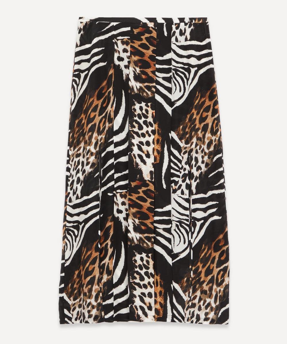 RIXO - Georgia Animal-Print Midi-Skirt
