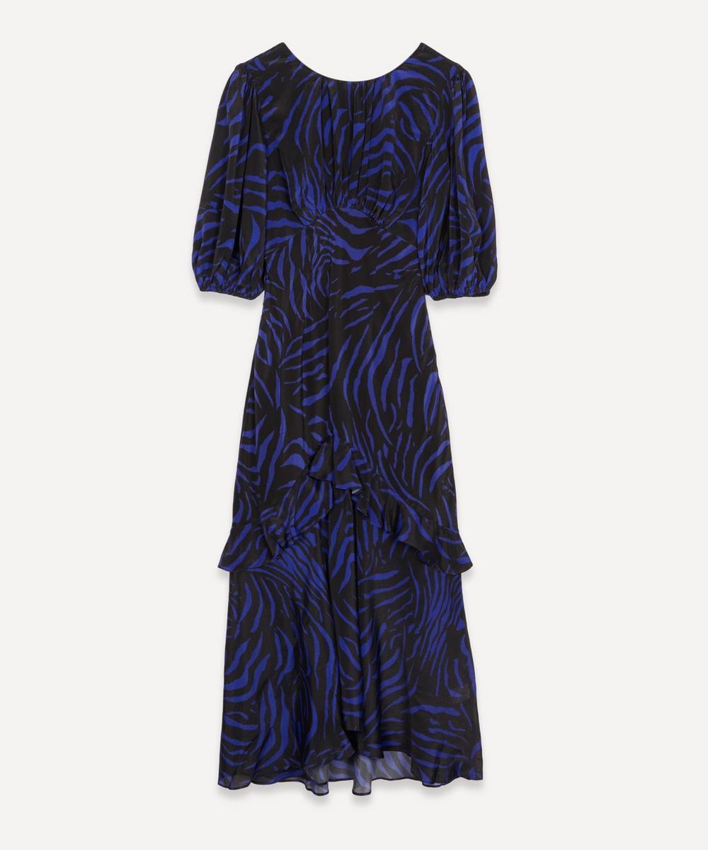 RIXO - Cheryl Puff-Sleeve Silk Midi-Dress