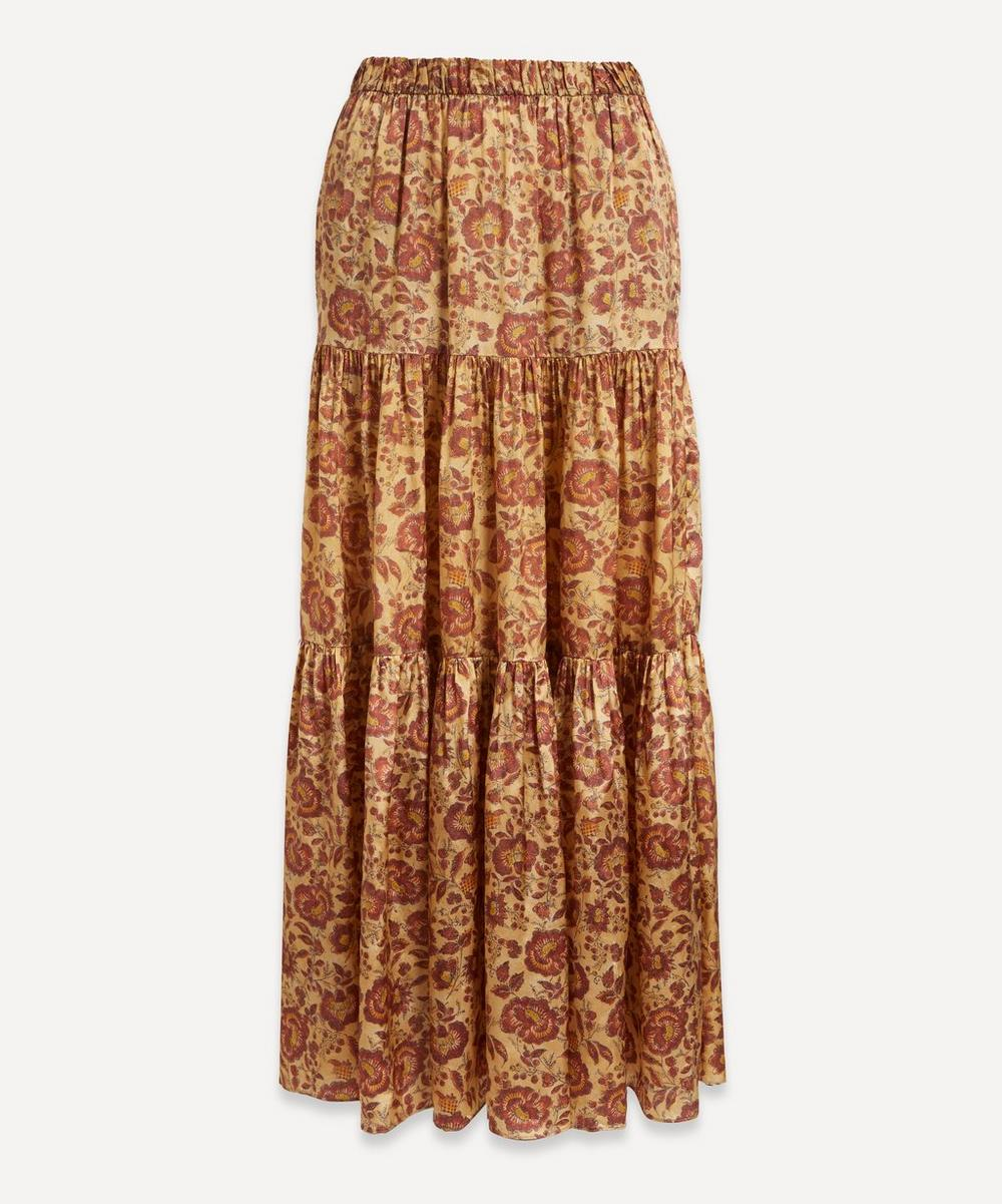 Masscob - Cassia Tiered Floral Maxi-Skirt