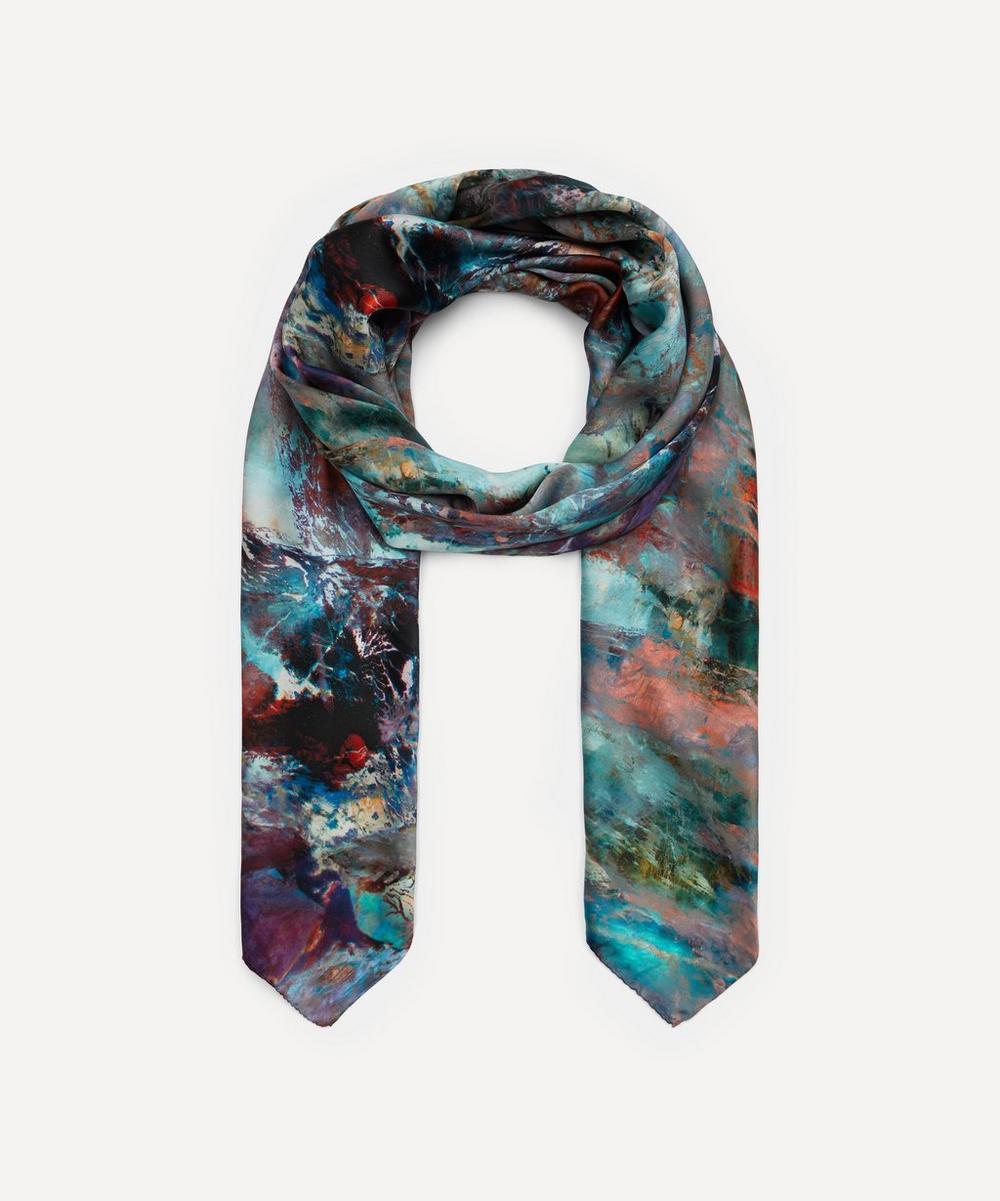Weston - Glass Fluorite Print Silk Scarf
