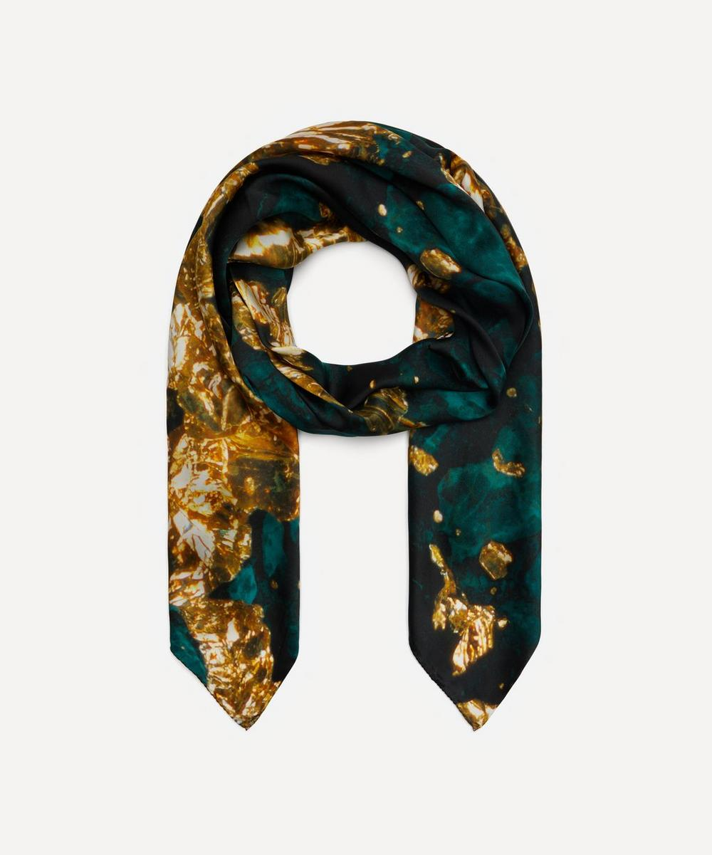 Weston - Gold Print Silk Scarf