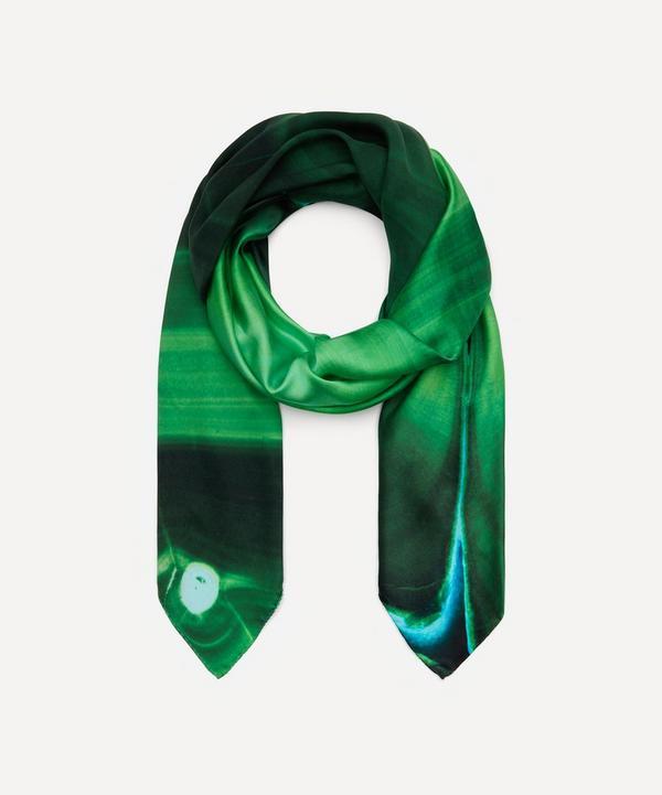 Weston - Malachite Print Silk Scarf