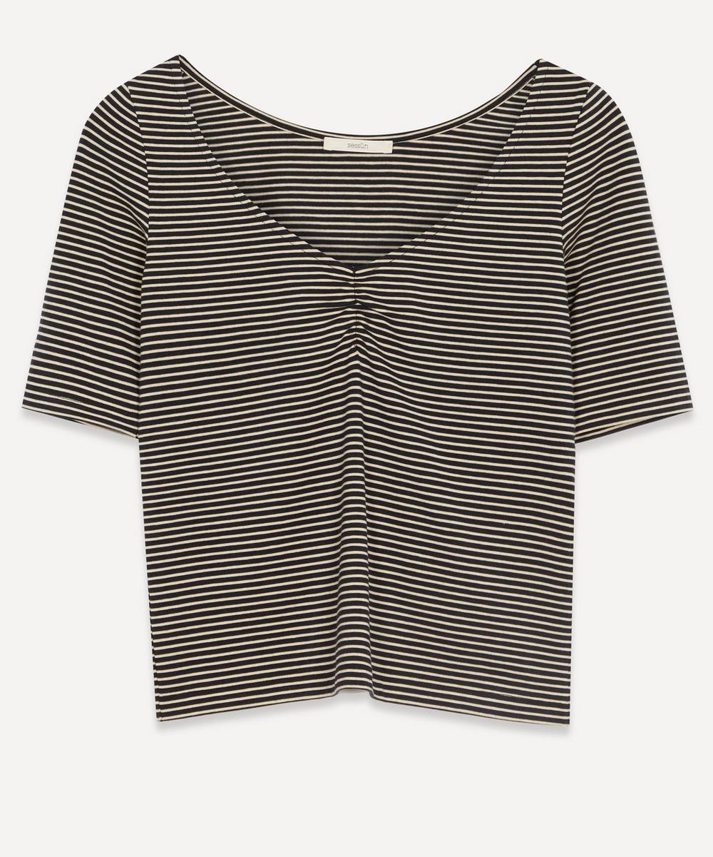 Sessùn - Lisi Gathered V-Neck T-Shirt