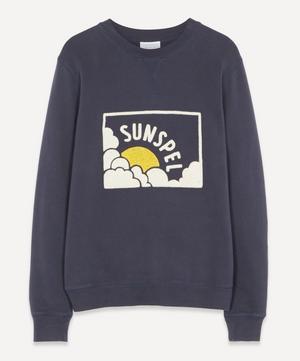 Sun Logo Print Sweater
