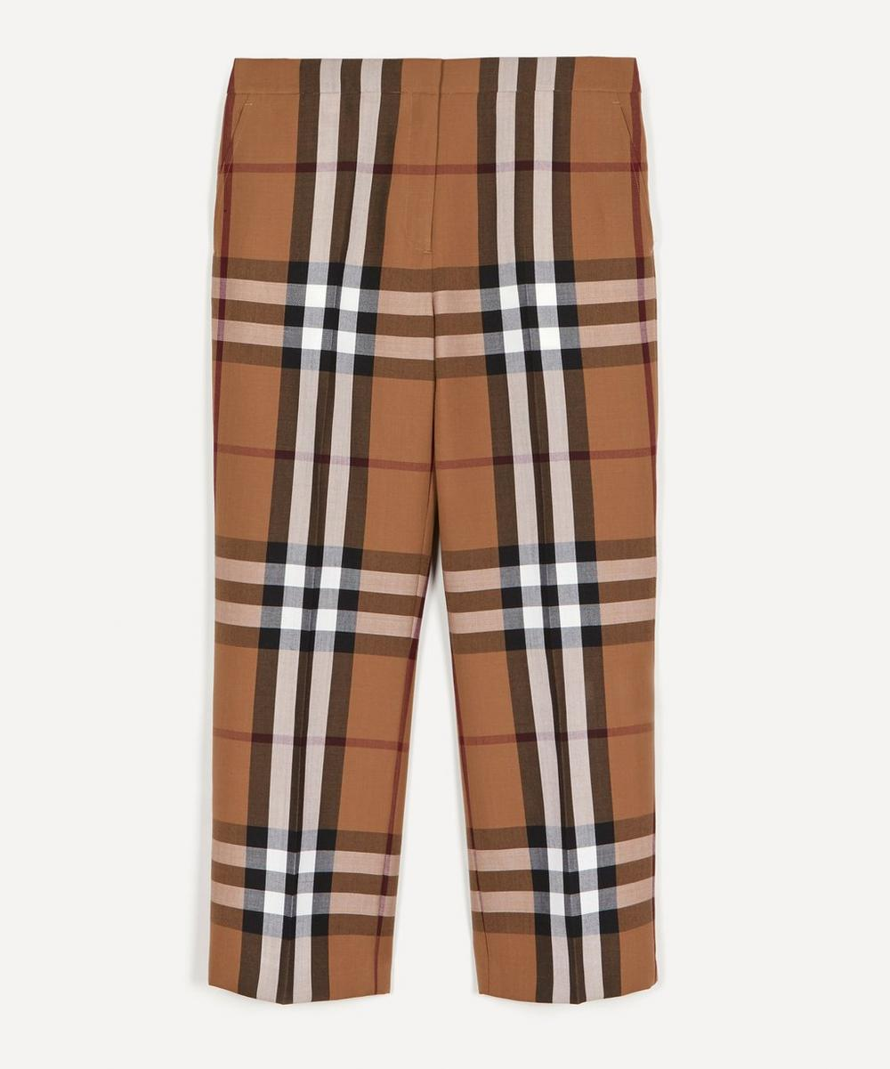 Burberry - Isabelle Checked Wool Trousers