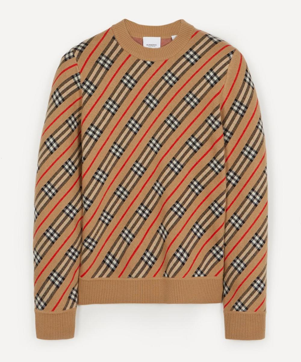 Burberry - Clara Checked Merino Wool-Blend Sweater