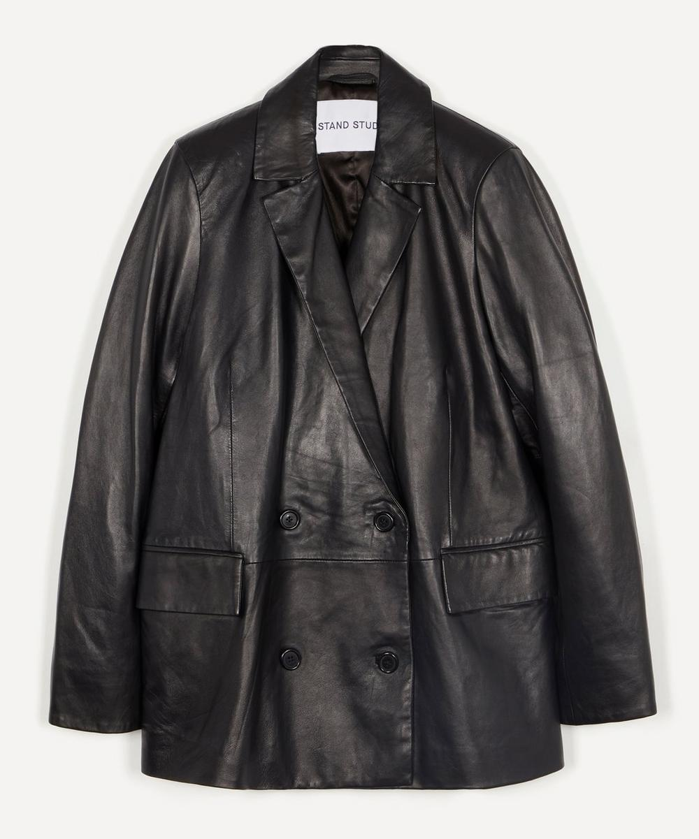 STAND STUDIO - Cassidy Relaxed Leather Blazer