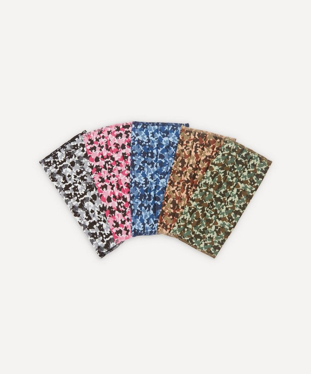Liberty - Camo Print Upcycled Tana Lawn™ Cotton Face Coverings Set of Five