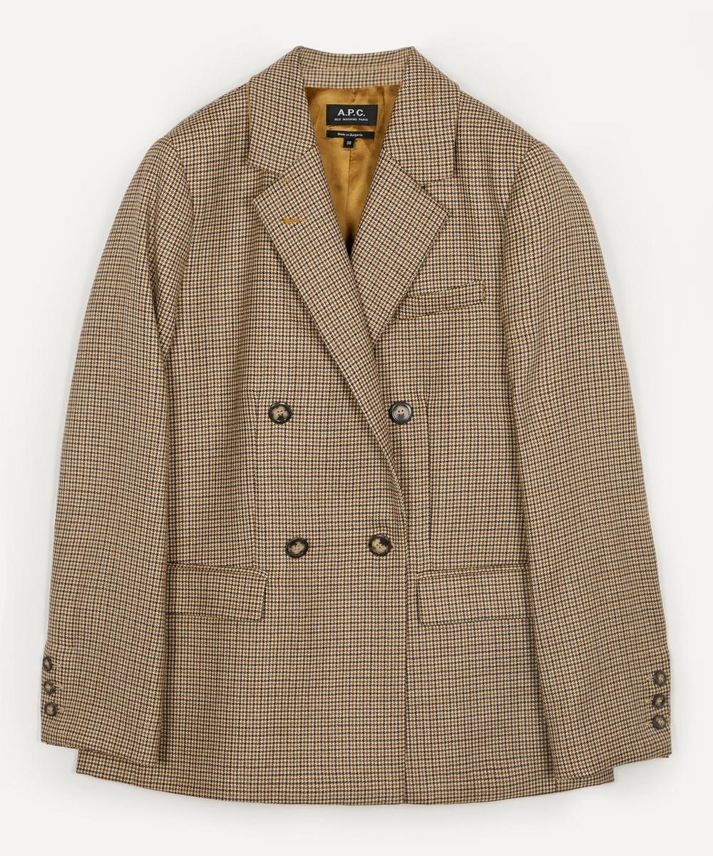 A.P.C. - Prune Checked Wool Jacket