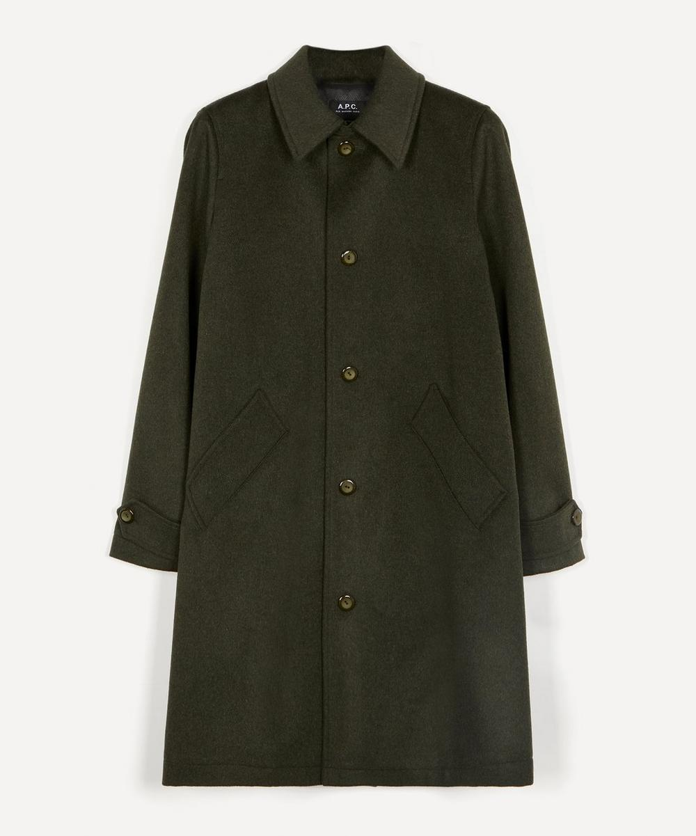 A.P.C. - Suzanne Pleated Wool-Blend Mac Coat