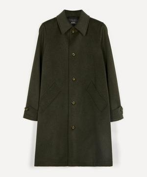 Suzanne Pleated Wool-Blend Mac Coat