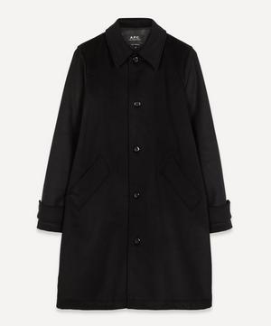 Suzanne Pleated Wool-Blend Mac Coat