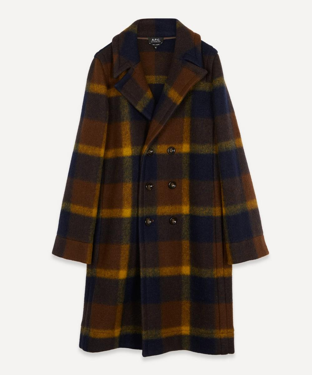 A.P.C. - Jane Tartan Boiled Wool-Blend Coat