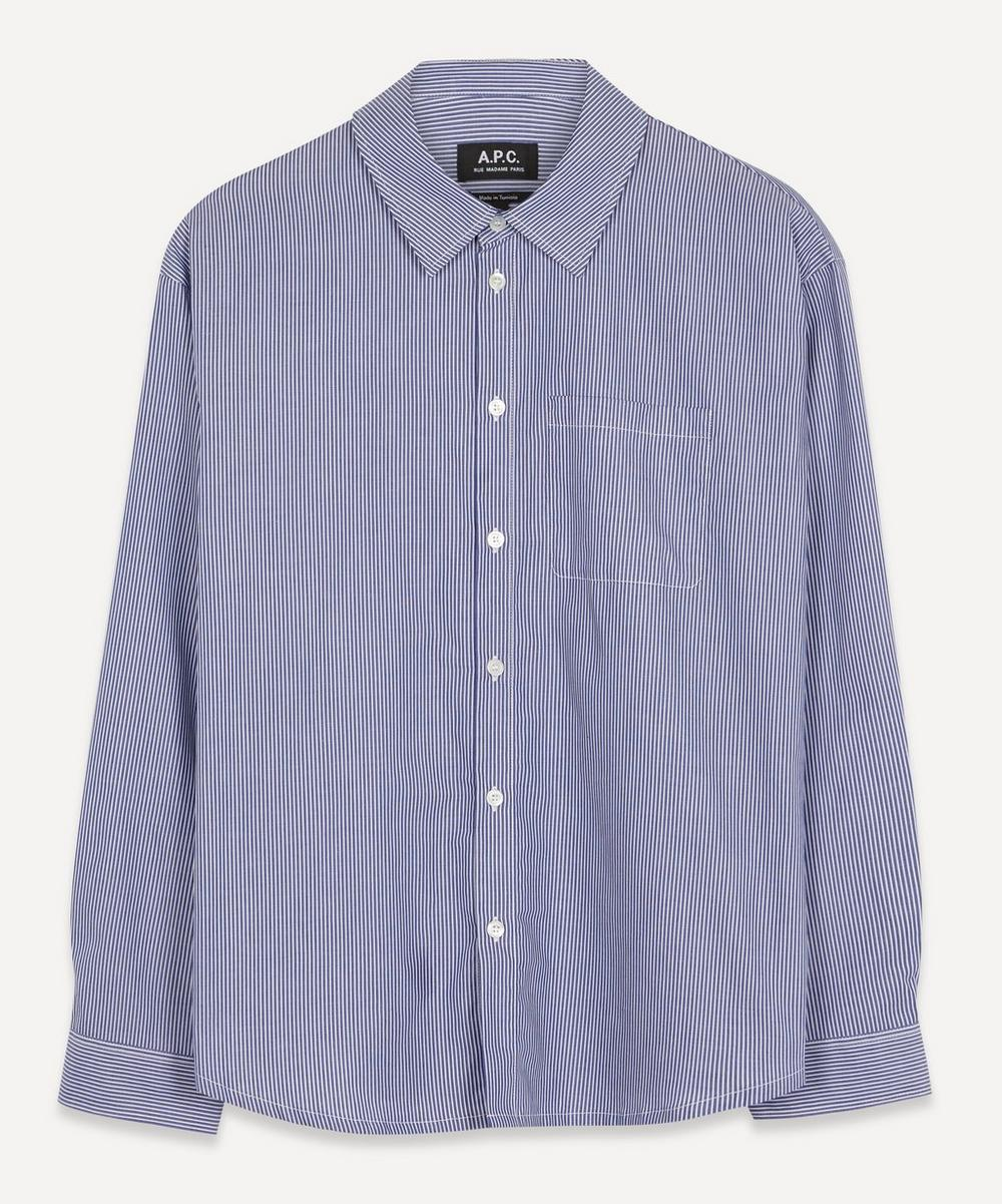 A.P.C. - Striped Cotton Boyfriend Shirt