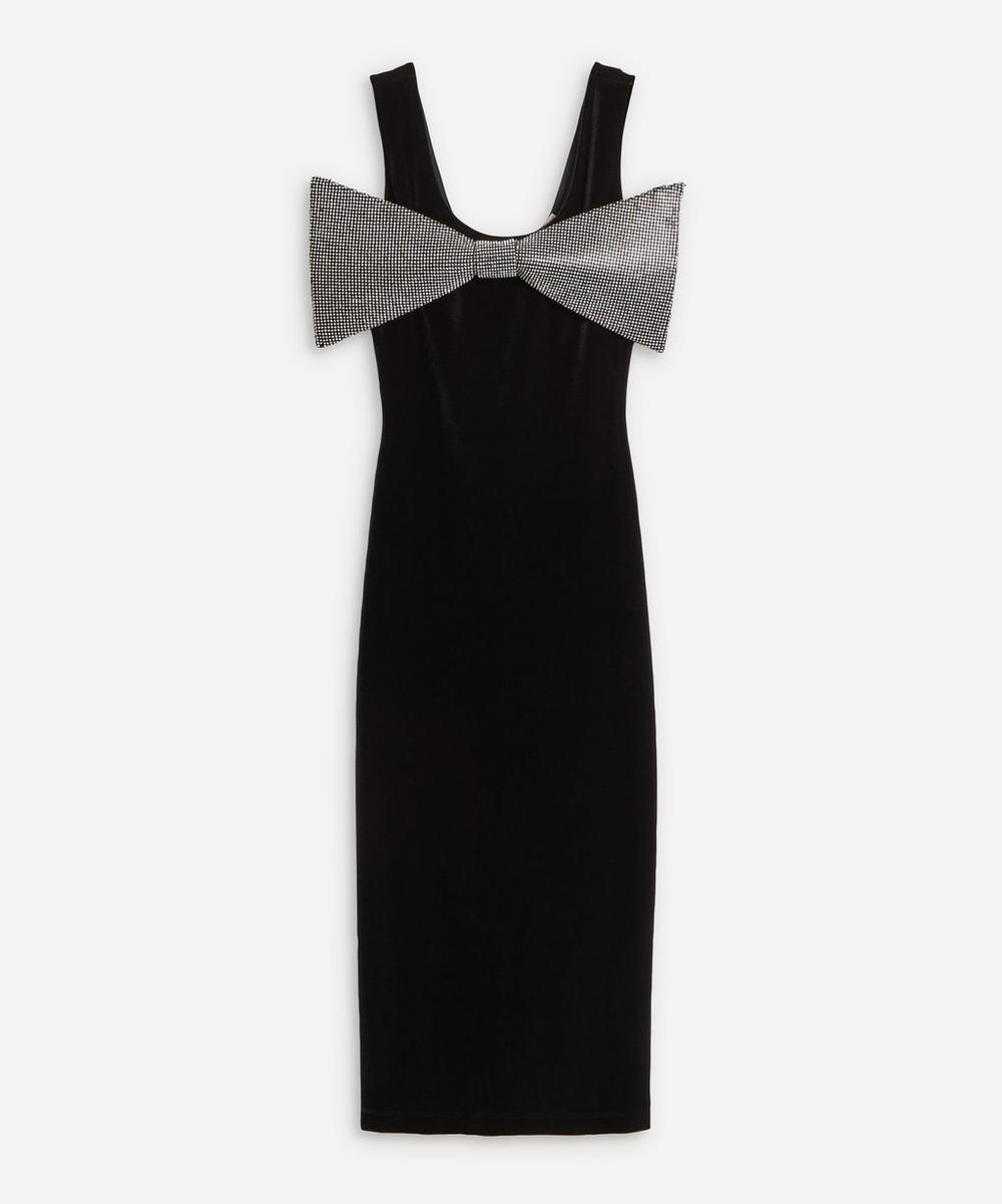 Christopher Kane - Crystal Bow Velvet Dress