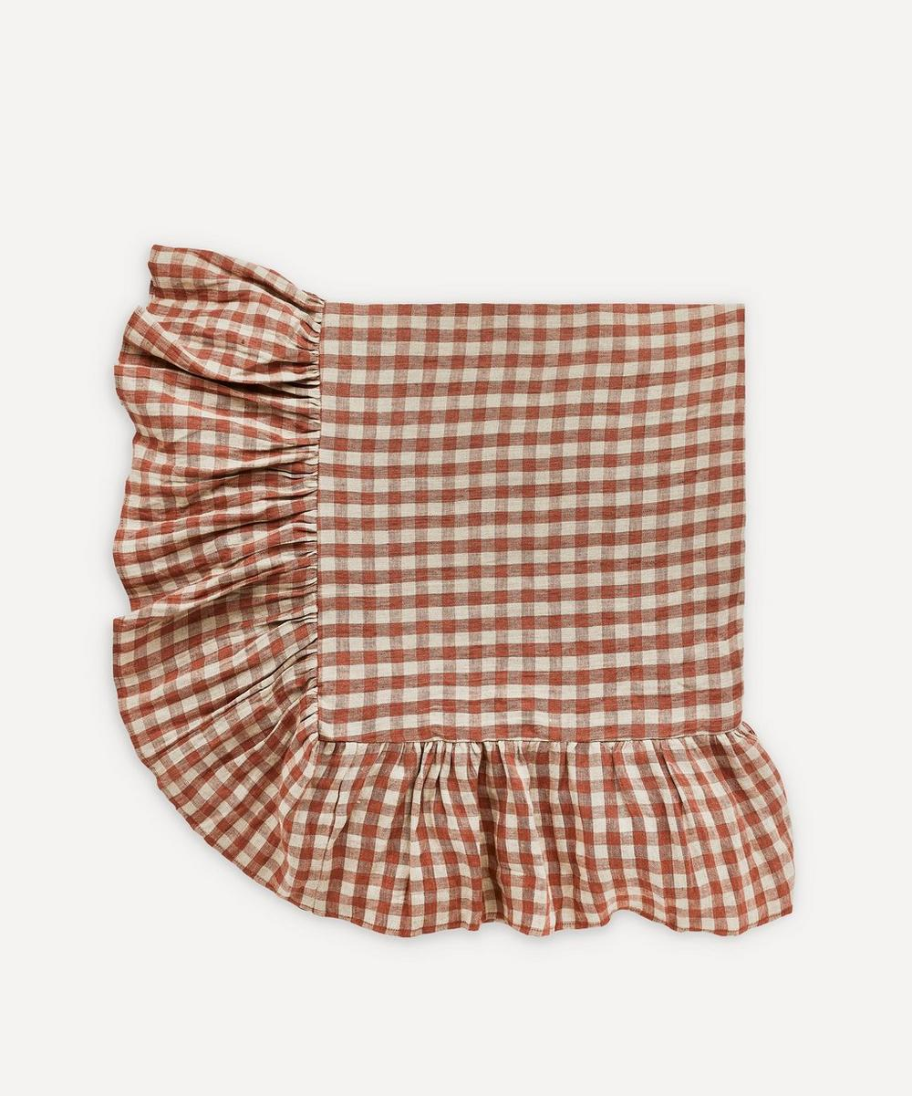 Projektityyny - Gingham Frill Tablecloth