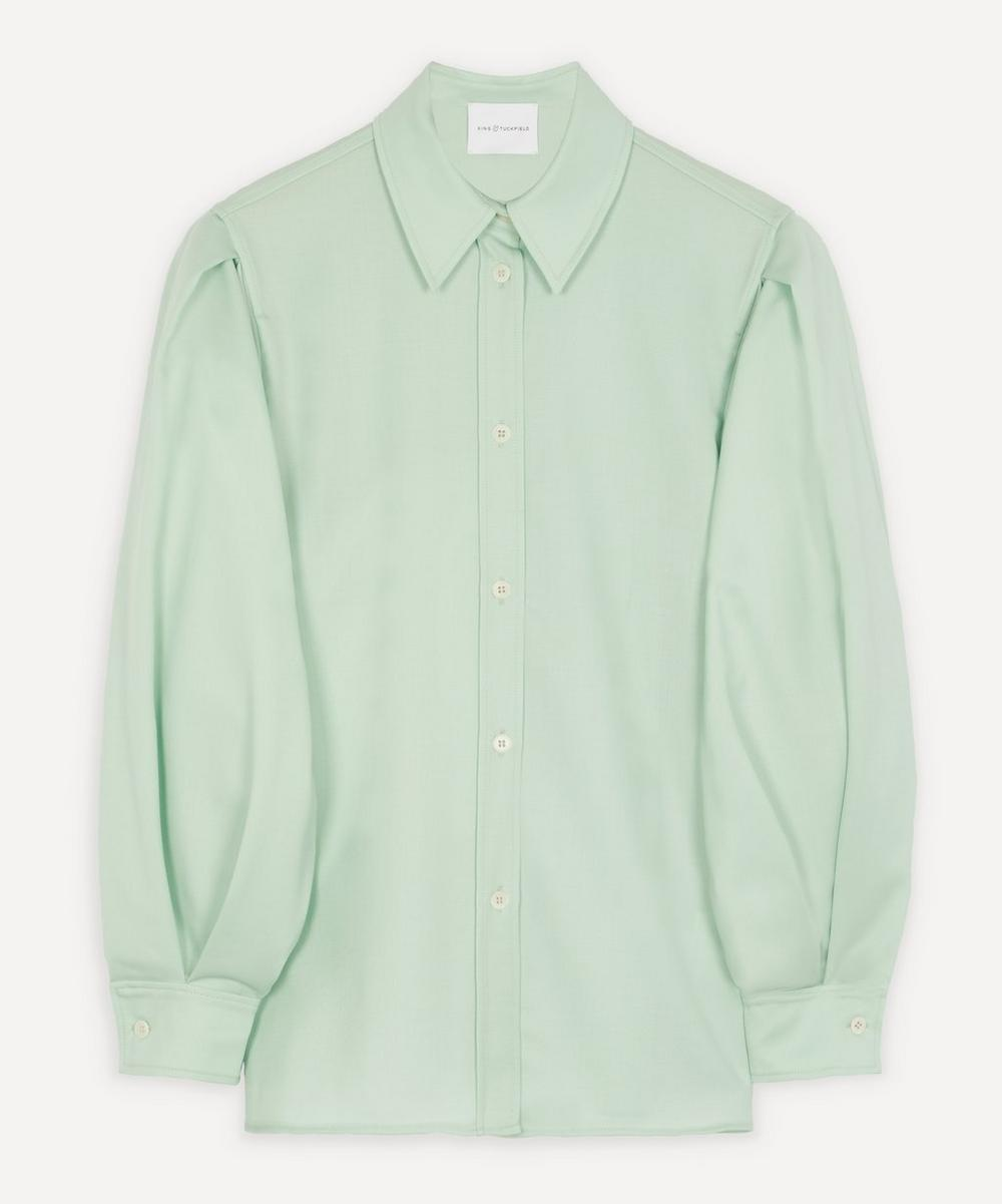 King & Tuckfield - Balloon-Sleeve Cotton Shirt