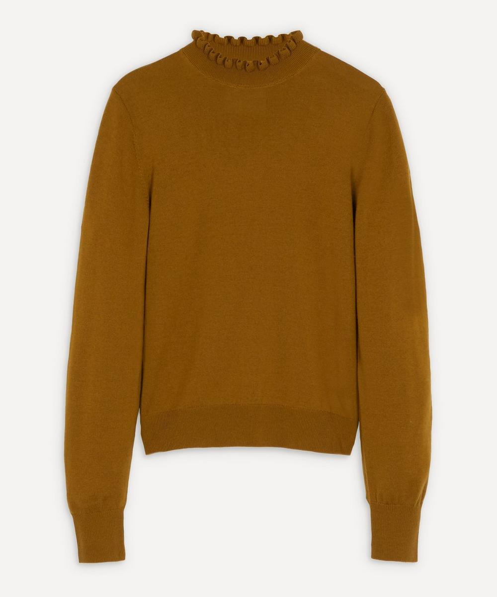 King & Tuckfield - Merino Ruffle-Neck Knit