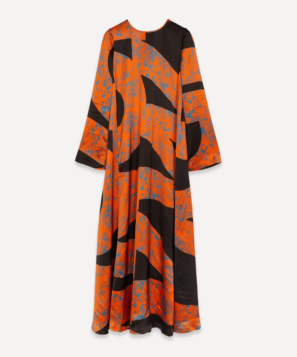 Colville - Alphabet Print Bell-Sleeve Dress