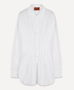 Pintuck Cotton Shirt