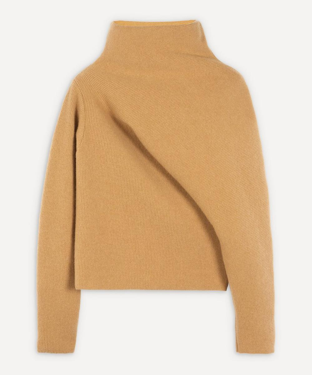 Colville - High-Neck Draped Knitted Wool Jumper