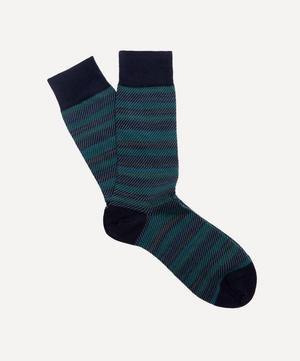 Thurloe Tweed Stripe Jacquard Socks