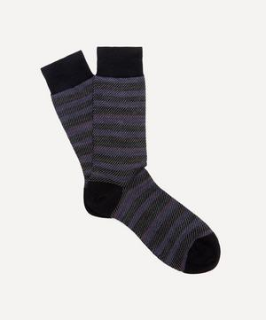 Thurloe Tweed Stripe Jacquard Socks