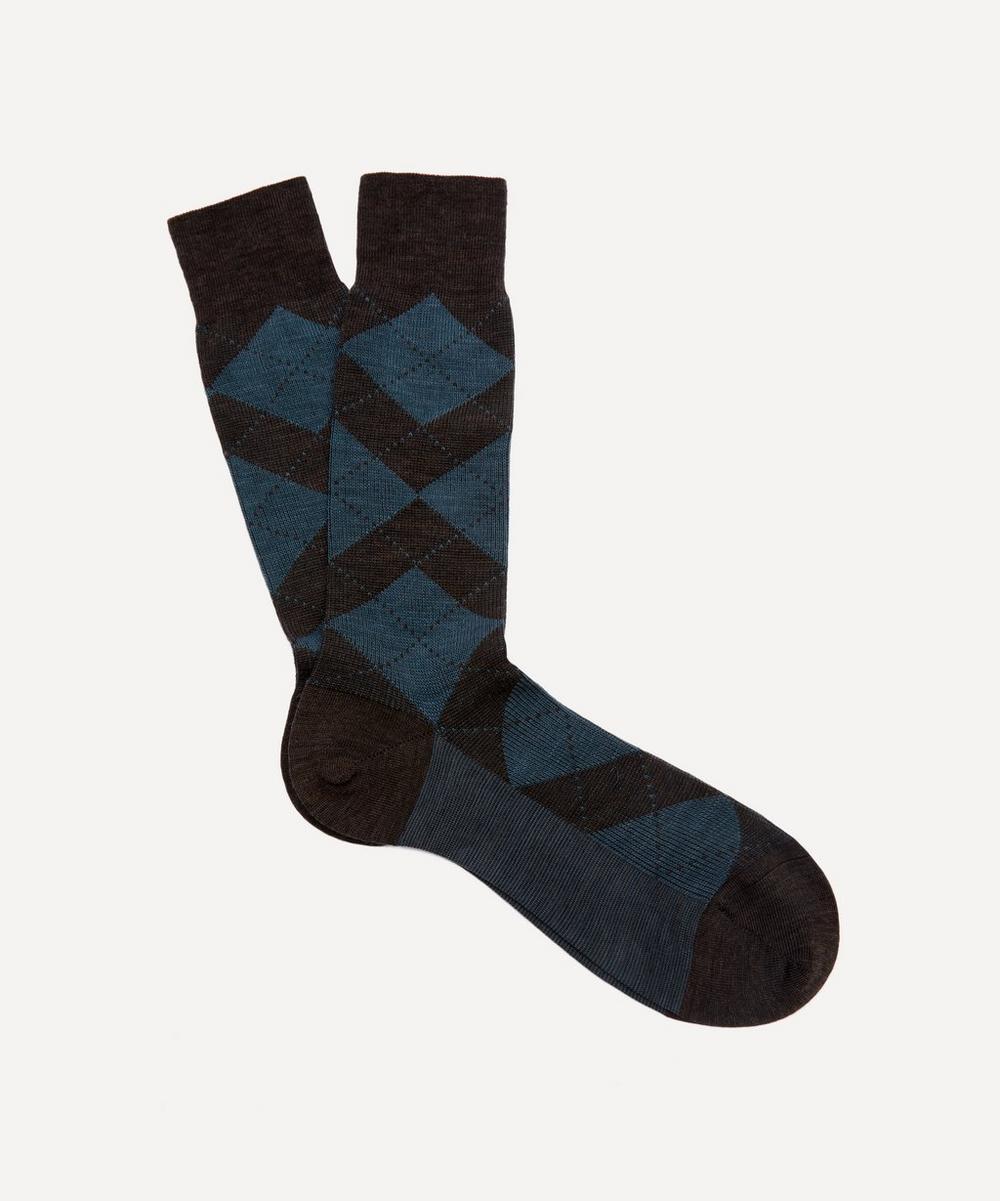 Pantherella - Abdale Argyle Diamond Ribbed Socks