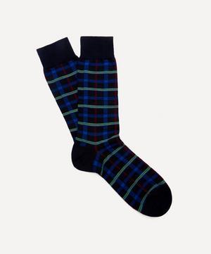 Chalsey Check Merino Wool-Blend Socks
