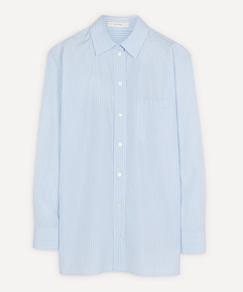 The Row - Rean Striped Poplin Shirt