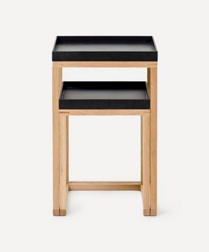 Black Top Nesting Side Tables