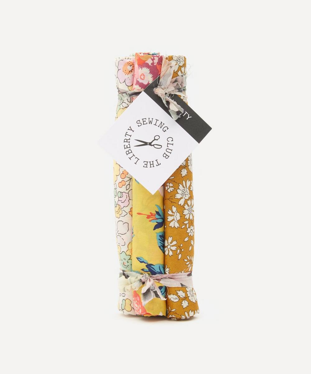 Liberty - Yellow Tana Lawn™ Cotton Fabric Bundle One Metre