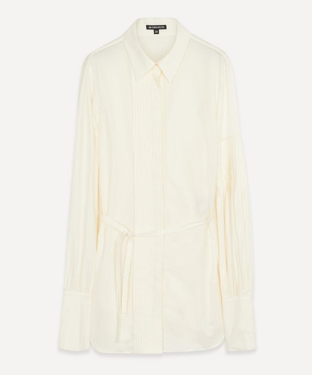 Ann Demeulemeester - Asymmetric Pleated Sleeve Shirt