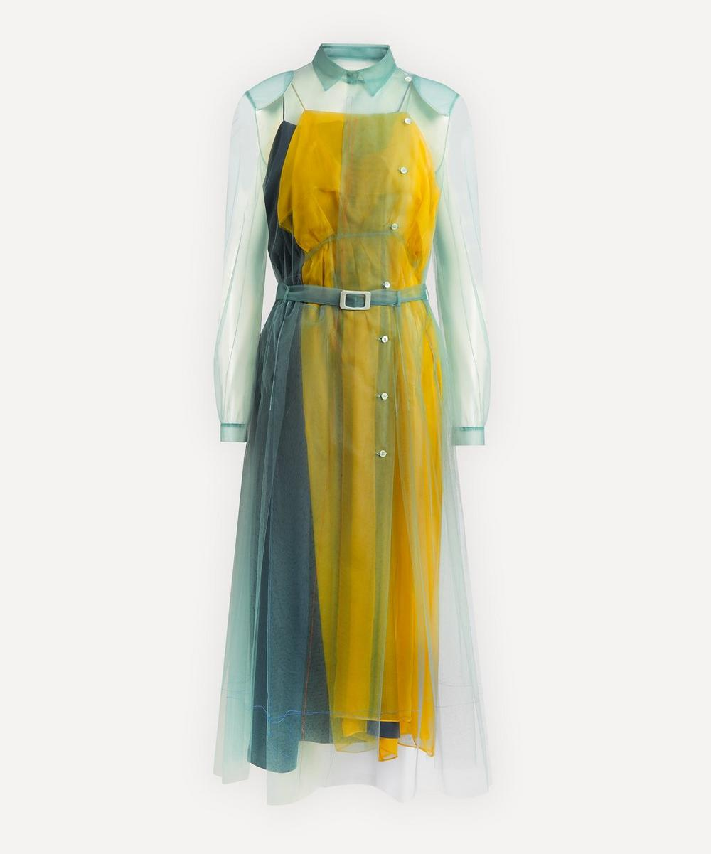 Maison Margiela - Tulle Overlay Belted Dress