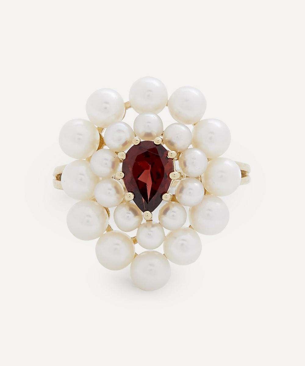 Anissa Kermiche - Gold Cotillon Pearl and Garnet Ring