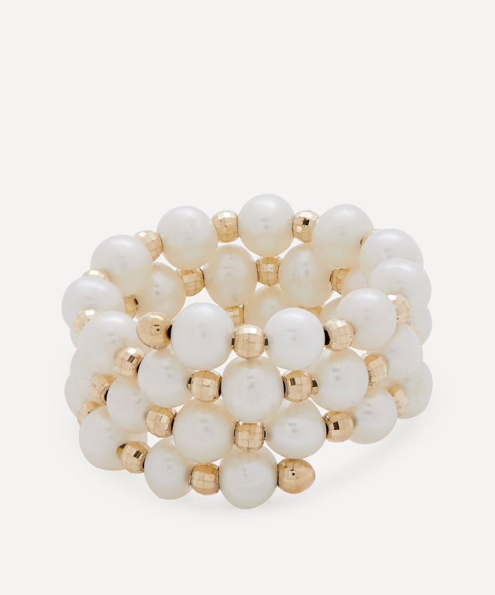Anissa Kermiche - Gold Impromptu Pearl Ring
