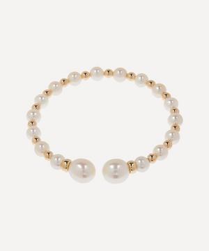 Gold Impromptu Pearl Bracelet