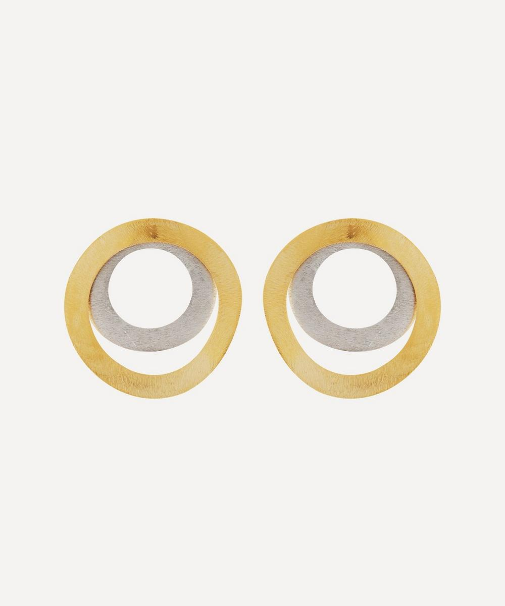 Anissa Kermiche - Silver and Gold-Plated Joined at the Hoop Earrings