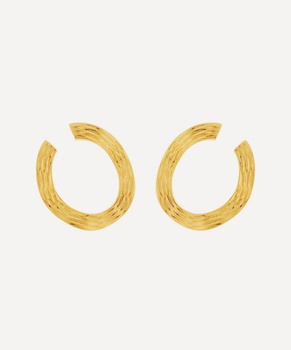 Anissa Kermiche - Gold-Plated Écorce Dorée Hoop Earrings