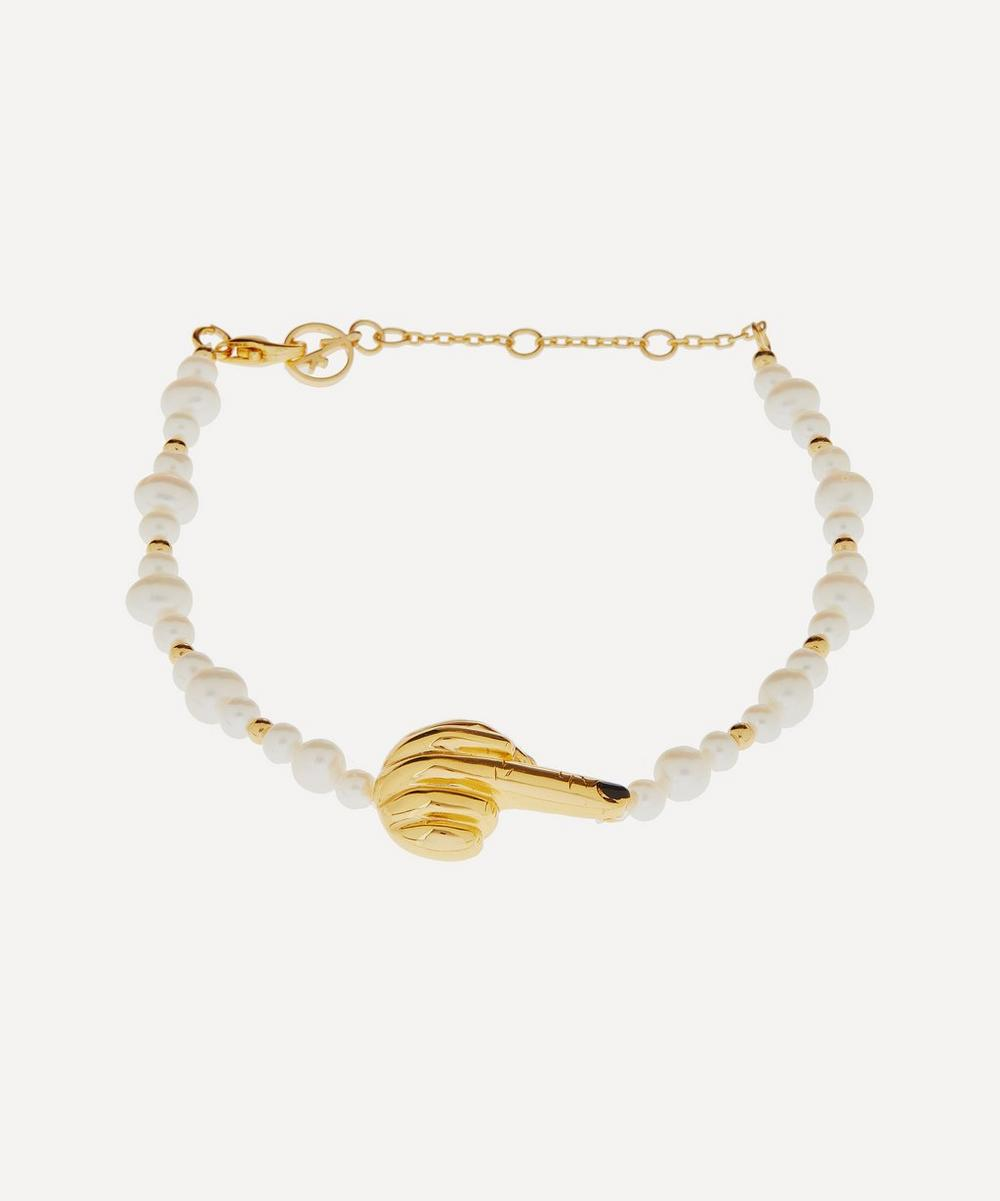 Anissa Kermiche - Gold-Plated French for Goodnight Pearl Bracelet
