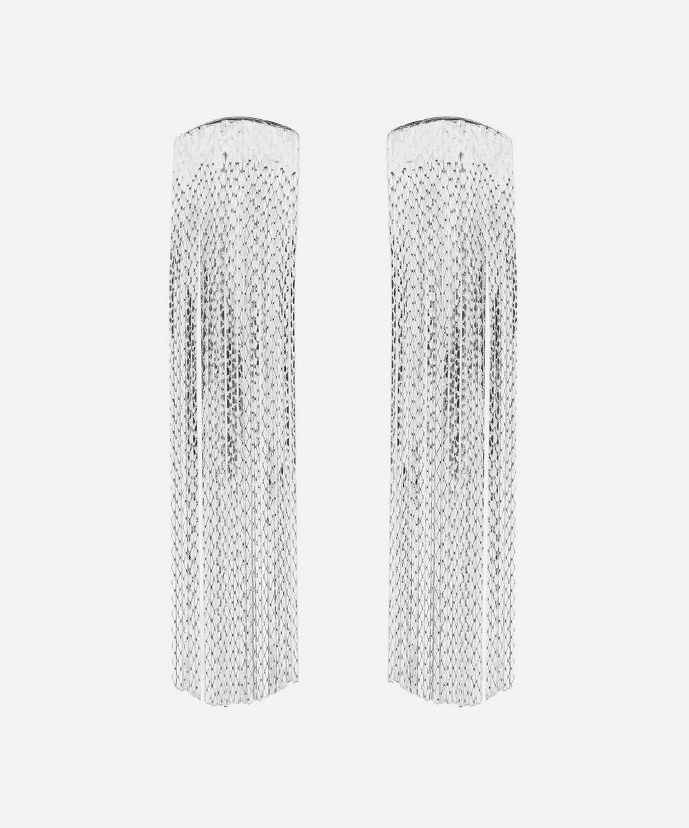 Anissa Kermiche - Silver-Plated Grand Fil d'Argent Drop Earrings